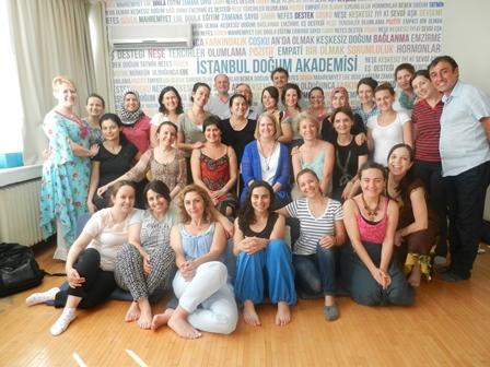 Uluslararası Katılımlı HypnoBirthing Eğitimi 3-4-5-6 Temmuz 2014 İstanbul Doğum Akademisi'nde yapıldı.