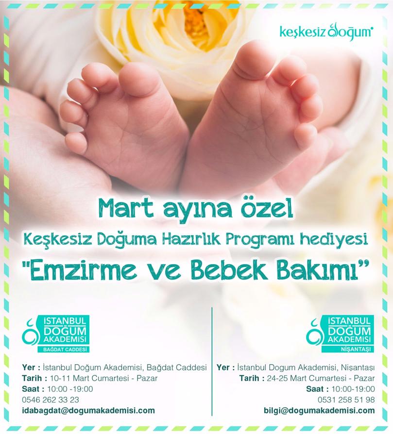 Keşkesiz Doğuma Hazırlık Programı HEDİYESİ Emzirme ve Bebek Bakımı Eğitimi
