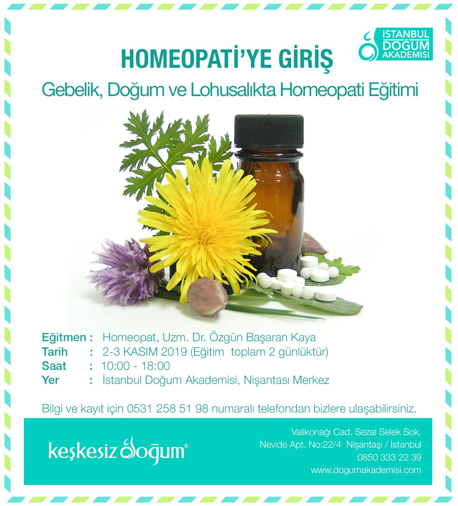 Homeopati'ye Giriş Eğitimi